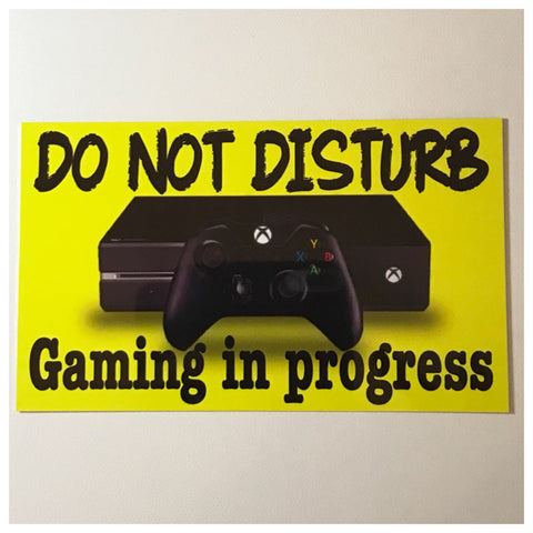 Xbox Gaming In Progress Do Not Disturb Sign Wall Plaque or Hanging - The Renmy Store