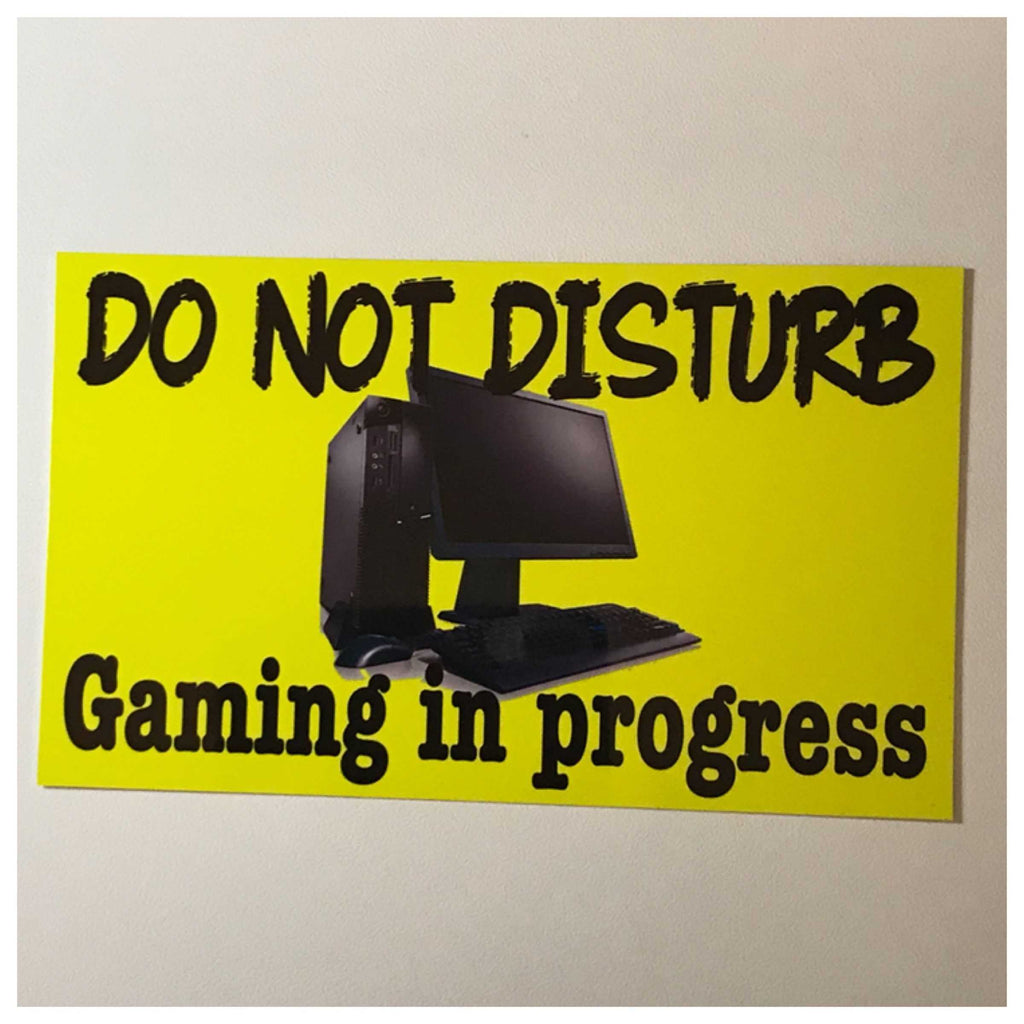Computer Gaming In Progress Do Not Disturb Sign Wall Plaque or Hanging - The Renmy Store