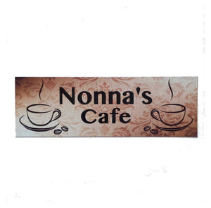 Custom Personalised Cafe Vintage Coffee Sign