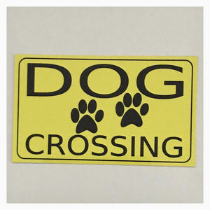 Dog Crossing Sign Wall Plaque Or Hanging - The Renmy Store