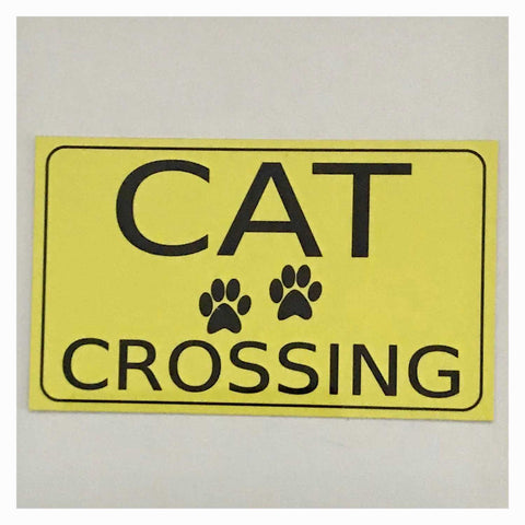 Cat Crossing Sign Wall Plaque Or Hanging - The Renmy Store