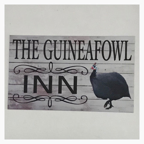 The Guineafowl Guinea Fowl Inn Sign Wall Plaque Or Hanging - The Renmy Store