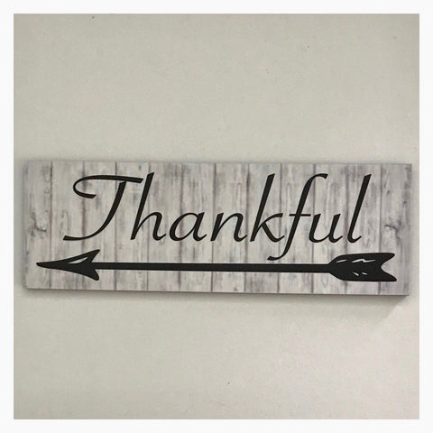 Thankful Timber Look Sign Wall Plaque or Hanging - The Renmy Store