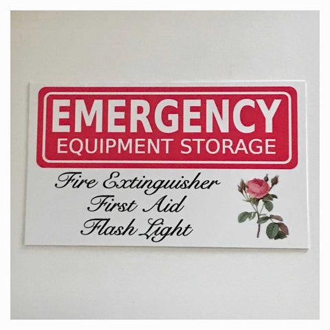 Emergency Equipment Storage Sign Wall Plaque Or Hanging - The Renmy Store
