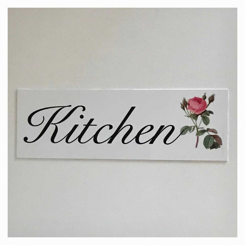 Kitchen with Vintage Rose Sign Wall Plaque or Hanging Plaques & Signs The Renmy Store