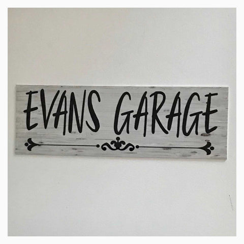 Your Name Custom Garage Vintage Sign Wall Plaque or Hanging - The Renmy Store