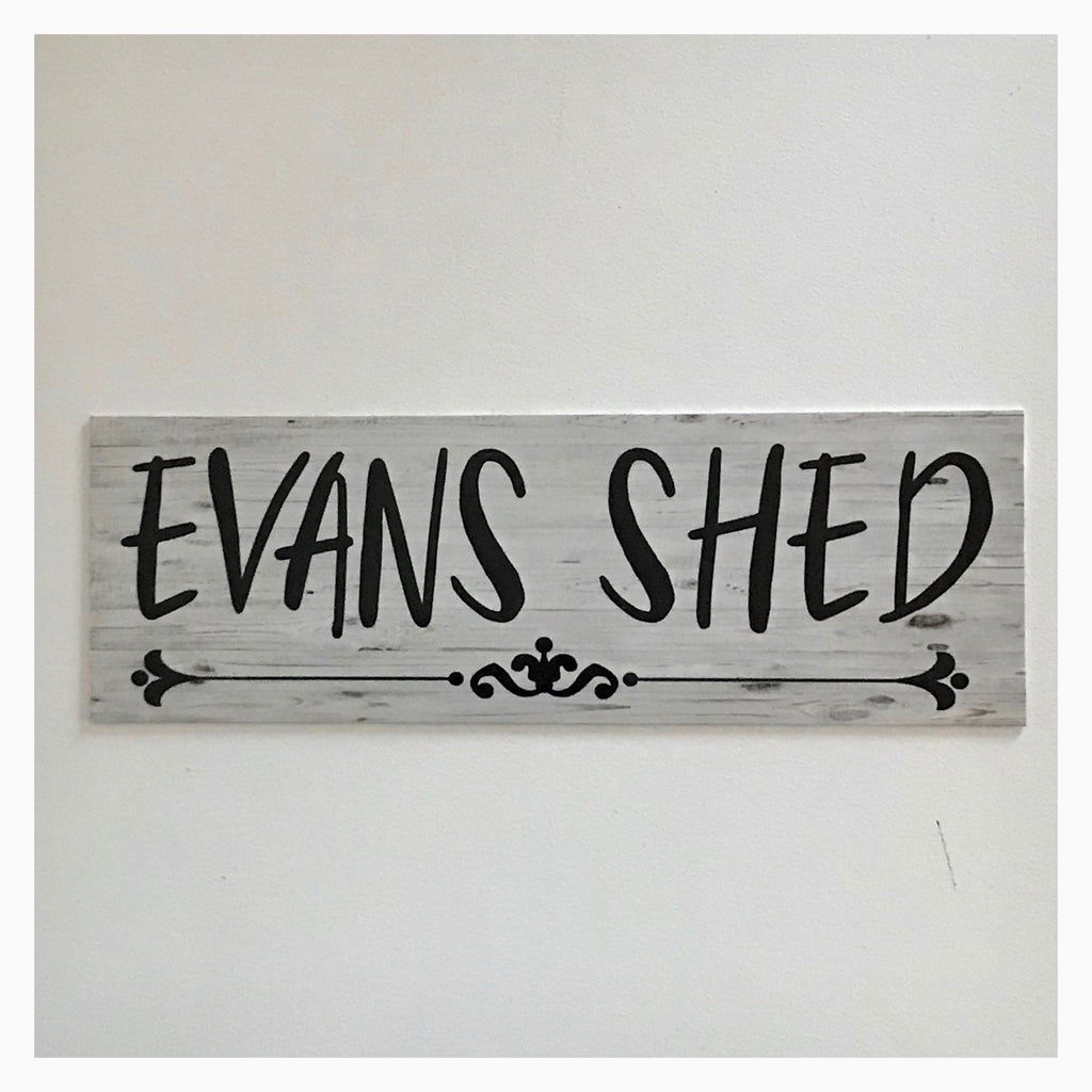 Your Name Custom Shed Vintage Sign Wall Plaque or Hanging - The Renmy Store