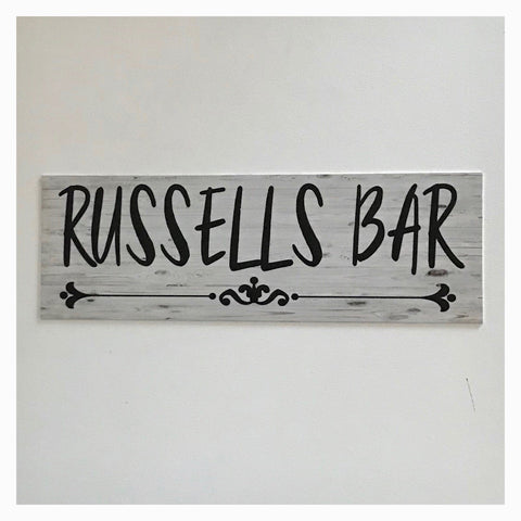 Your Name Custom Personalised Bar Vintage Sign - The Renmy Store