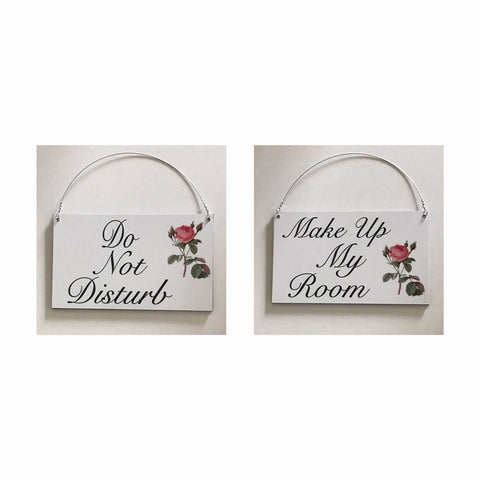 Do Not Disturb Make Up My Room Sign Wall Plaque or Hanging Hotel Motel BNB Room - The Renmy Store
