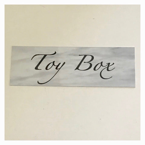 Toy Box Box DIY Sign Wall Plaque or Hanging - The Renmy Store
