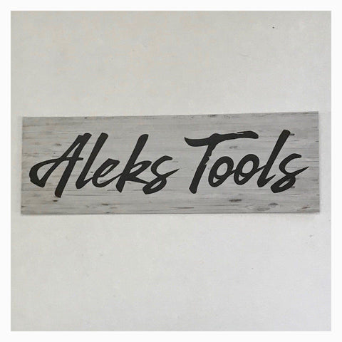 Tool Tools Box Door Custom Your Name Sign Wall Plaque or Hanging - The Renmy Store