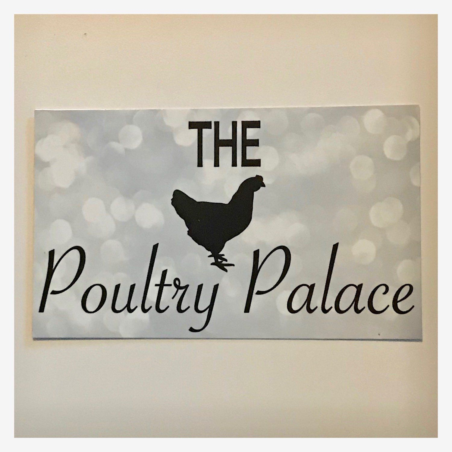 The Poultry Palace with Chicken Sparkle Sign - The Renmy Store
