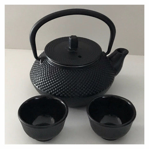 Cast Iron Black Little Er Teapot & Set of Cups 300ml Antique - Tea - Japanese - Chinese - Vintage - The Renmy Store