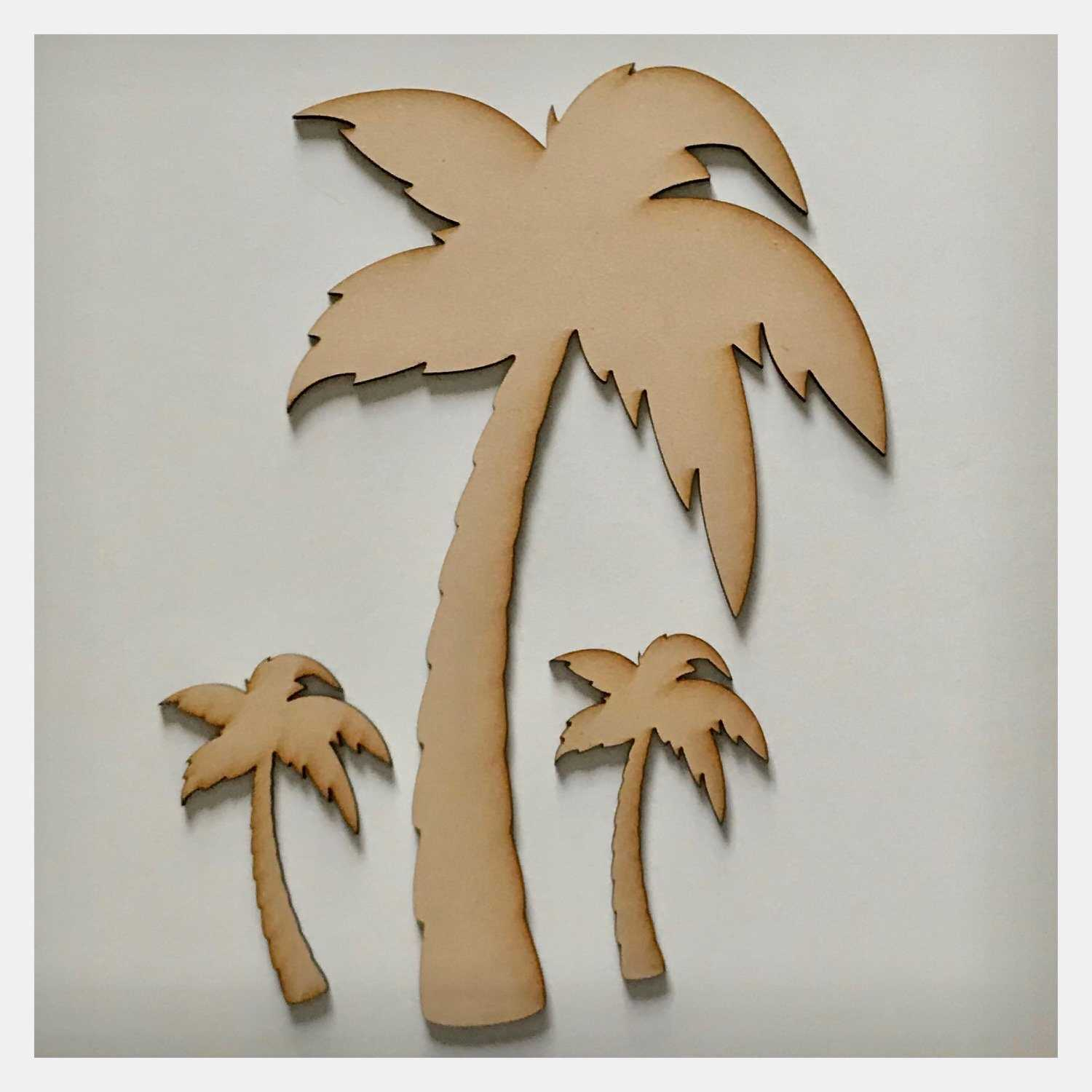 Palm Trees Tree Tropical DIY Raw MDF Timber