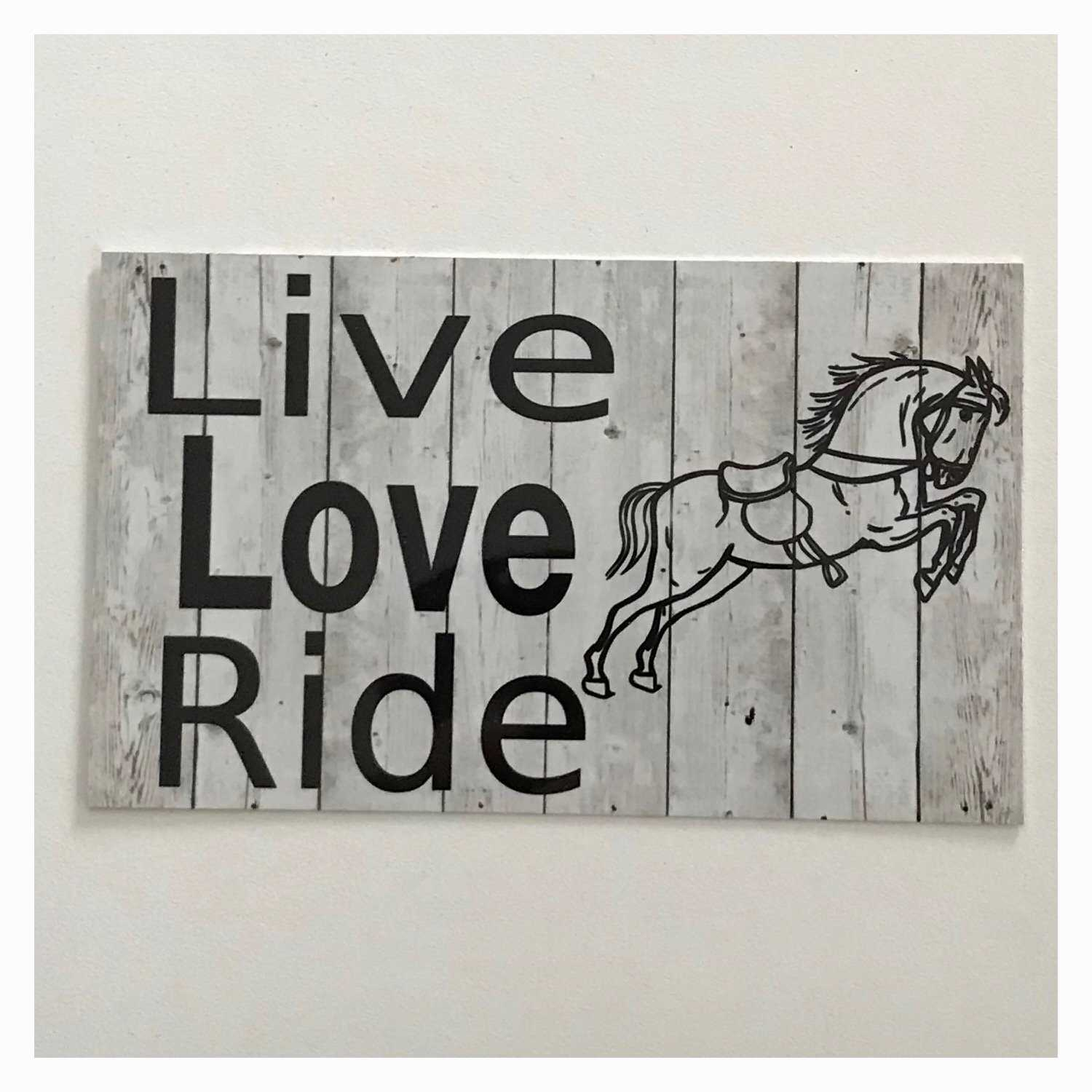 Live Love Ride Horse Sign Plaque Hanging or Plaque Plaques & Signs The Renmy Store