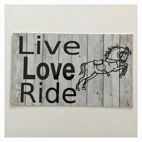 Live Love Ride Horse Sign Plaque Hanging or Plaque - The Renmy Store