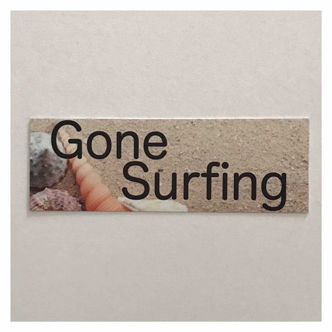 Gone Surfing Beach House Shell Sign Hanging Or Plaque - The Renmy Store