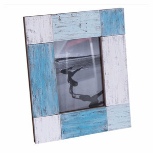 Photo Frame Wooden Vintage Rustic Timber Blue White Green Florence