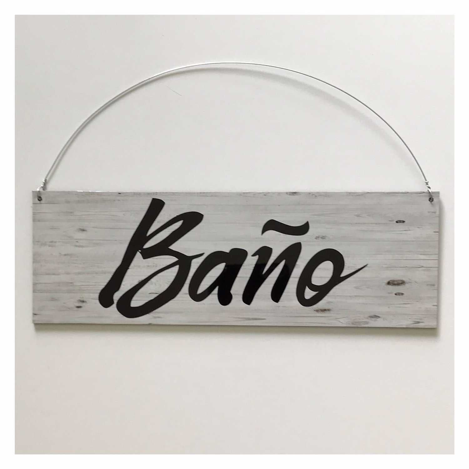 Bano Spanish Spain Toilet Door Sign | The Renmy Store