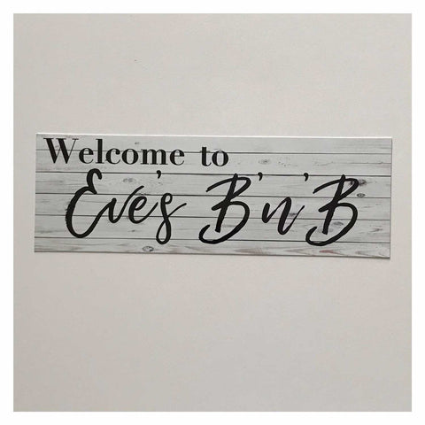 Custom Welcome B n B Guest Motel Bed & Breakfast Your Name Sign Wall Plaque or Hanging Plaques & Signs The Renmy Store