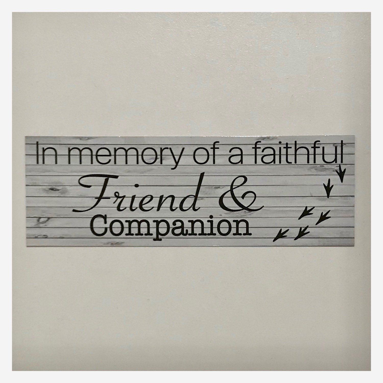 RIP Bird Parrot Pet Memorial Faithful Friend Companion Sign Plaque Or Hanging - The Renmy Store
