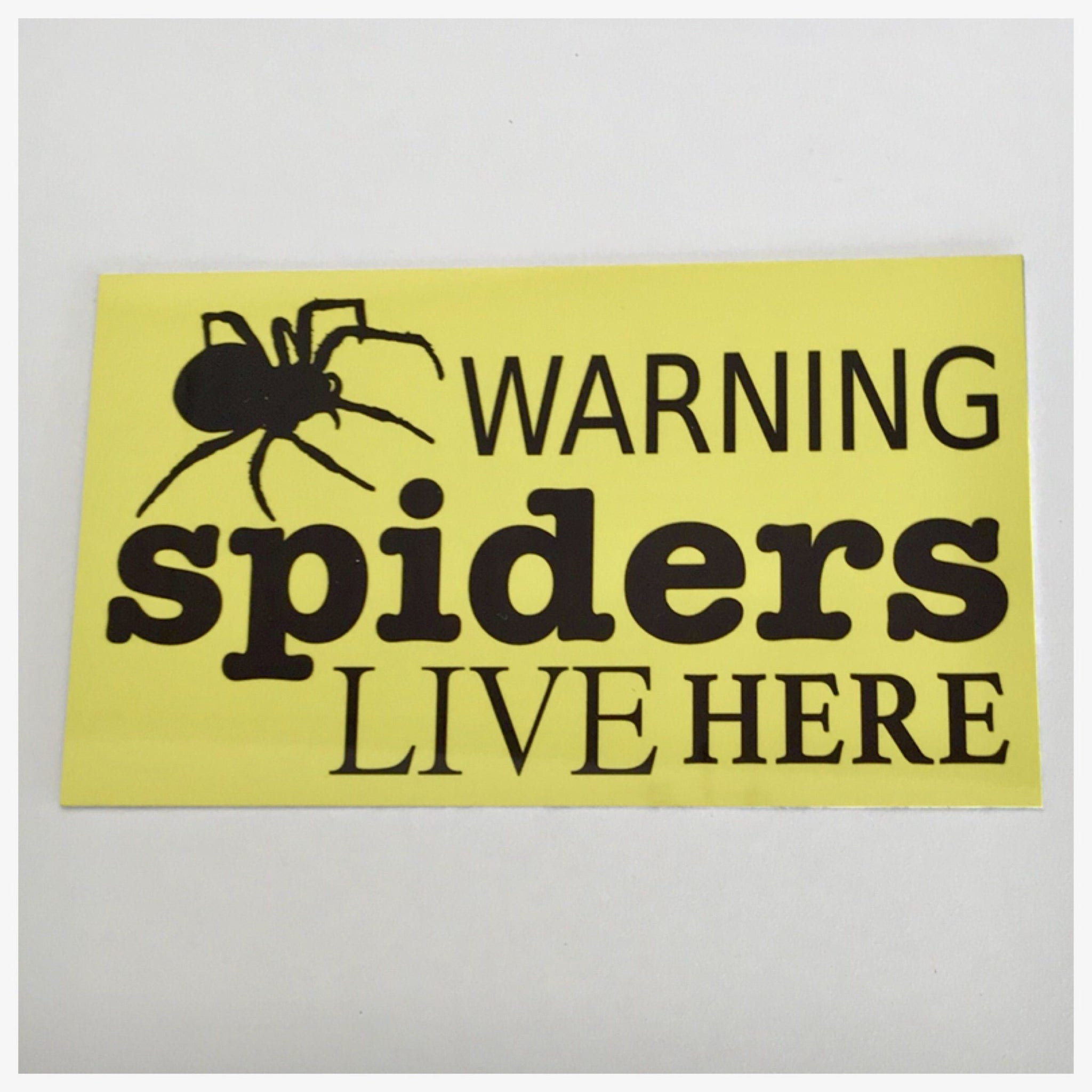 Warning Spiders Live Here Sign