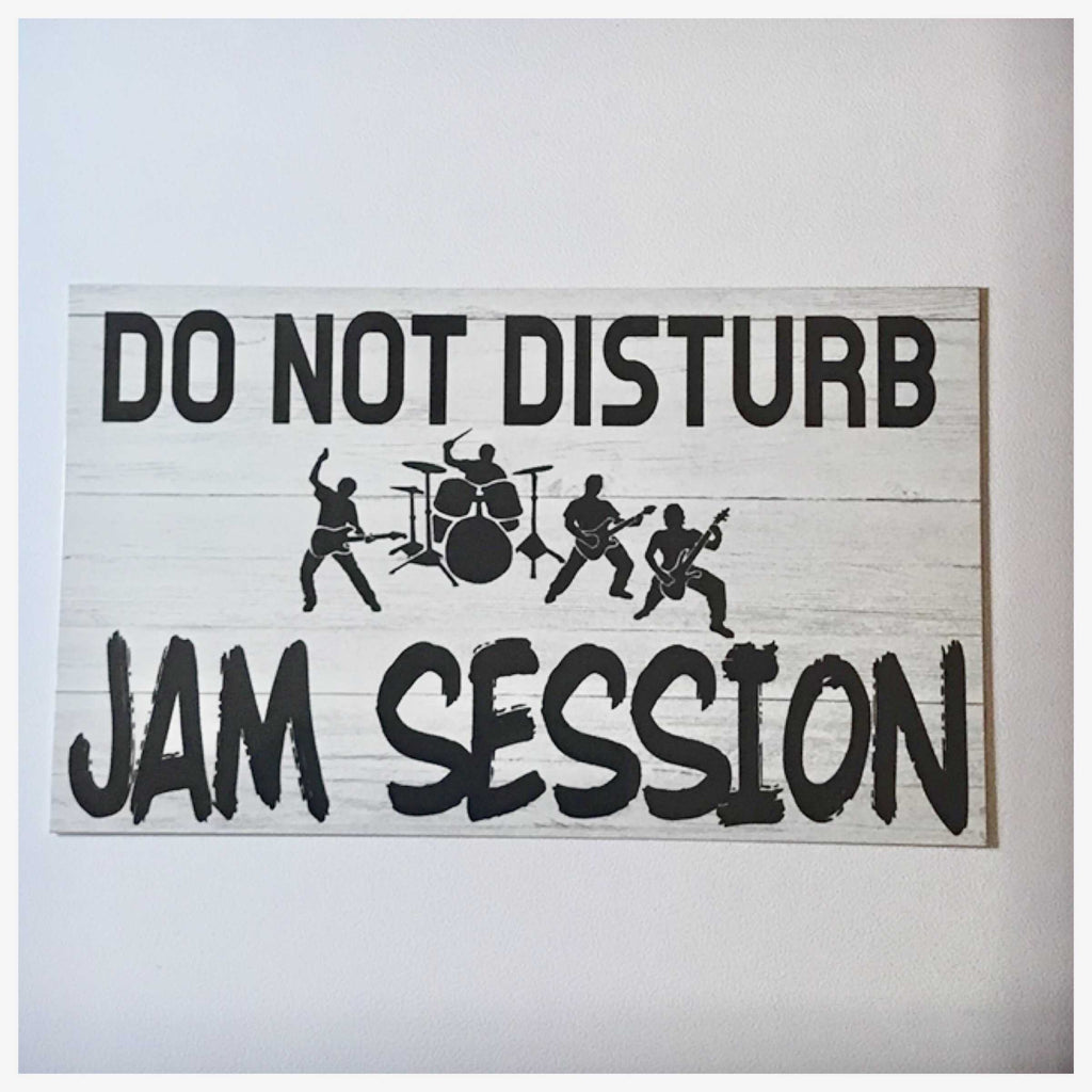 do not disturb jam session sign wall plaque or hanging the renmy store