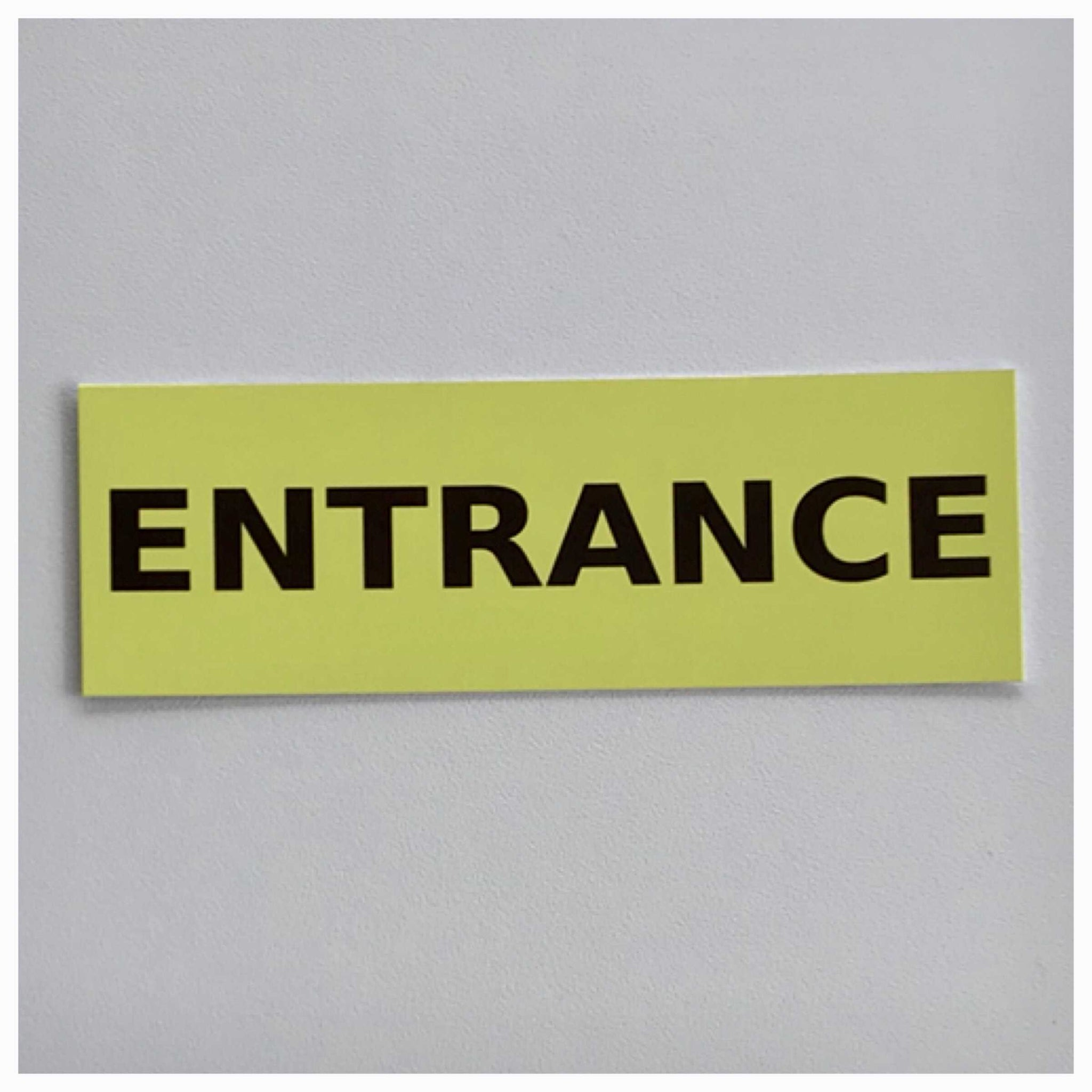 Entrance Yellow Sign - The Renmy Store