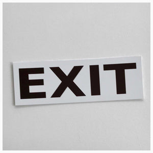 Exit White Sign - The Renmy Store