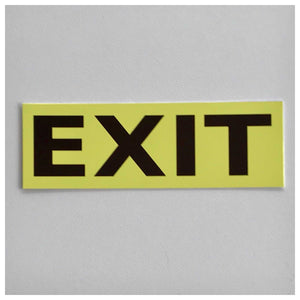 Exit Yellow Sign - The Renmy Store