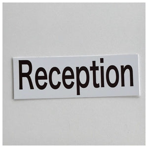 Reception Modern Text Sign