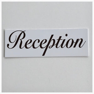 Reception Script Text Sign Wall Plaque or Hanging - The Renmy Store