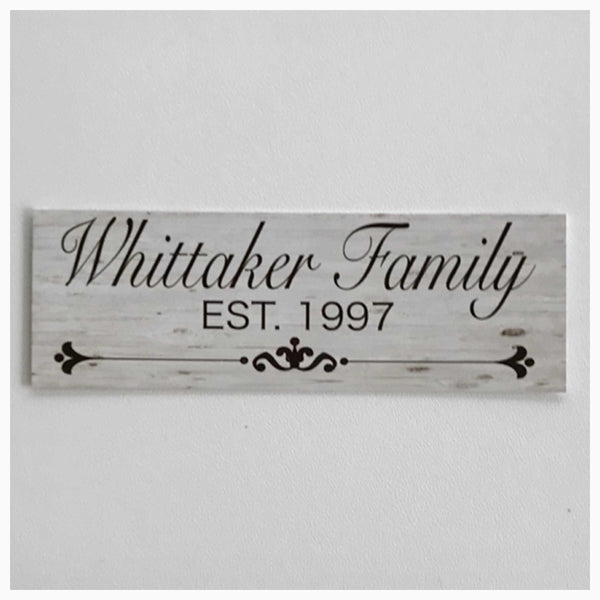 Custom Your Family Name and Year Vintage Sign Wall Plaque or Hanging - The Renmy Store