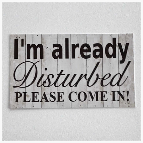 I'm Already Disturbed Please Come In Sign - The Renmy Store