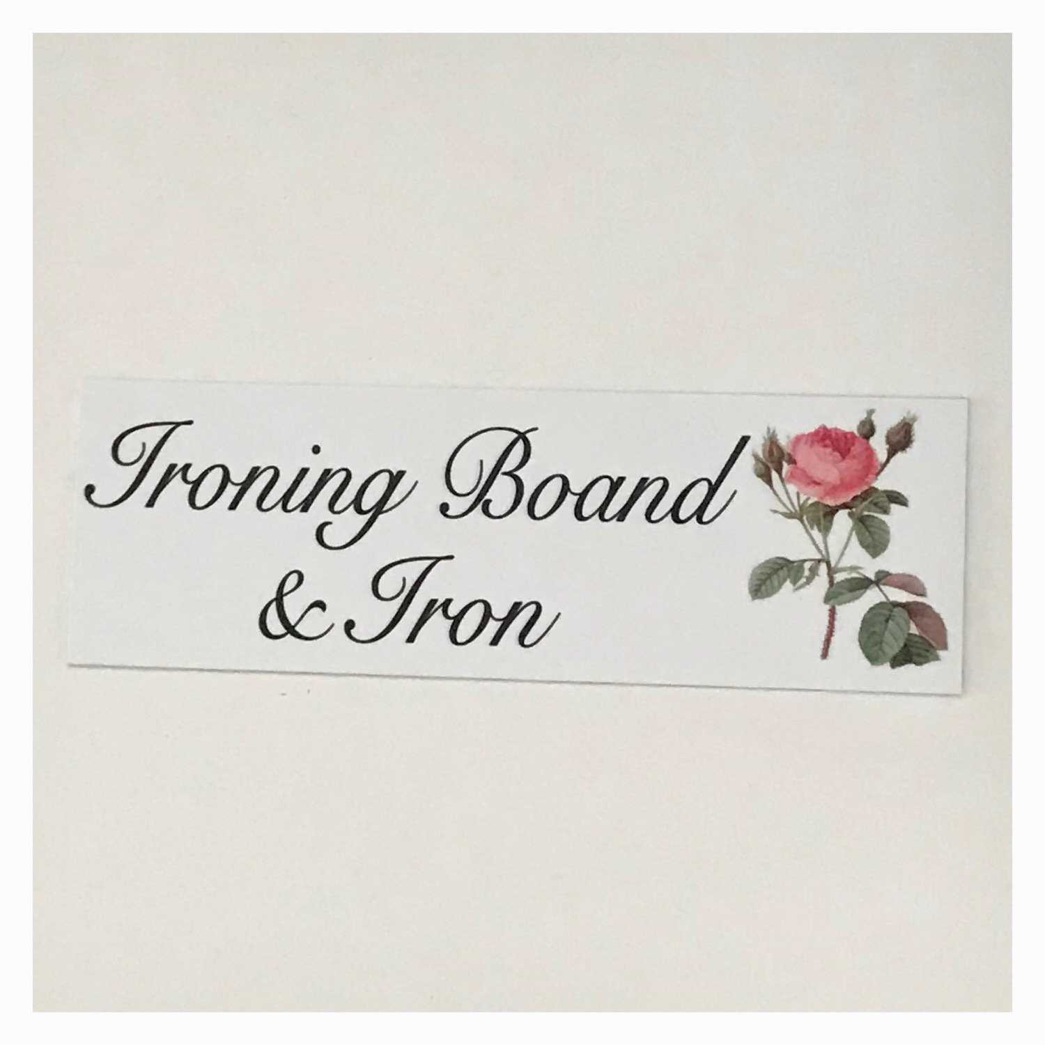 Ironing Board & Iron Sign Wall Plaque or Hanging - The Renmy Store