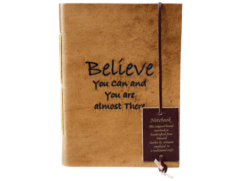 Leather Journal Diary Note Book Believe You Can