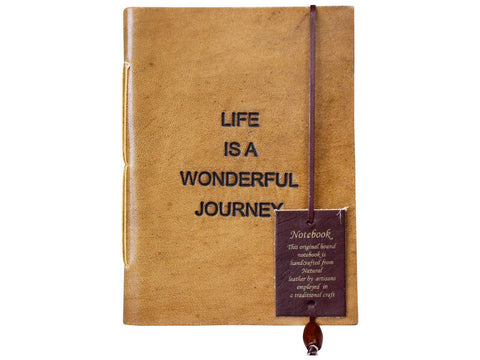 Leather Journal Diary Note Book Life is a wonderful journey