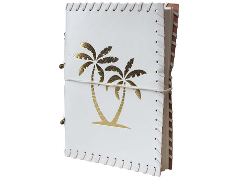 Leather Journal Diary Note Book Palm Trees