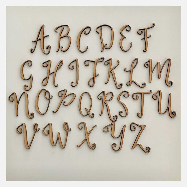 Letter Alphabet MDF Cut Out Raw DIY Scrap Booking Art Craft Decoration Decor - The Renmy Store