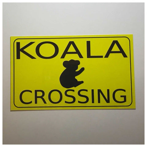 Koala Crossing Sign Wall Plaque or Hanging - The Renmy Store
