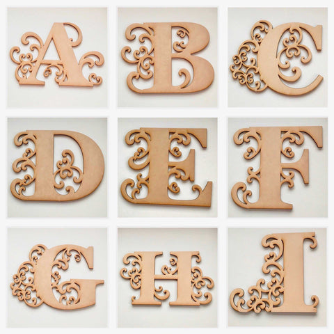 Letter Letters Alphabet MDF Raw Timber Personalised Custom - The Renmy Store