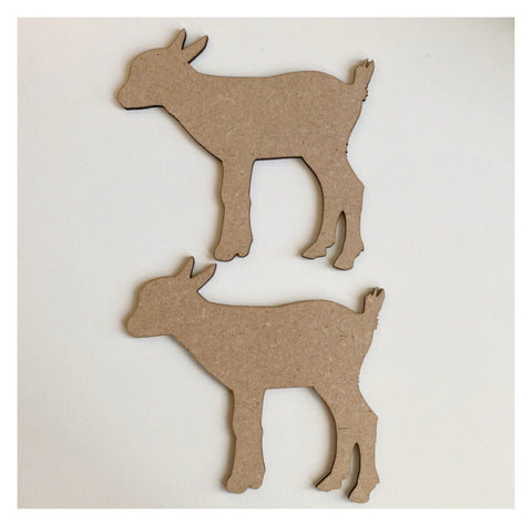 Lamb x2 MDF Wooden Shape Farm DIY Cut Out Art Craft Decor