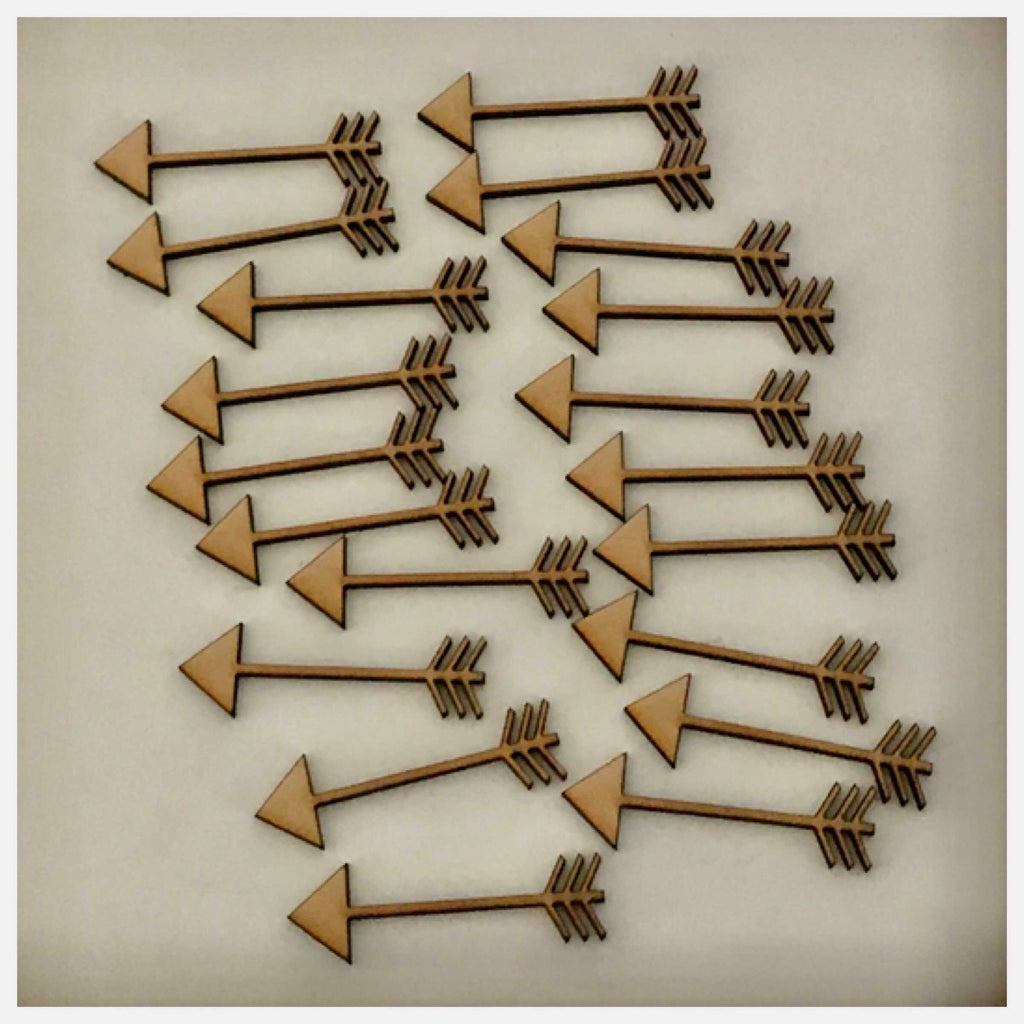 Arrow Arrows Set of 20 MDF Shape DIY Raw Cut Out Art Craft Decor - The Renmy Store