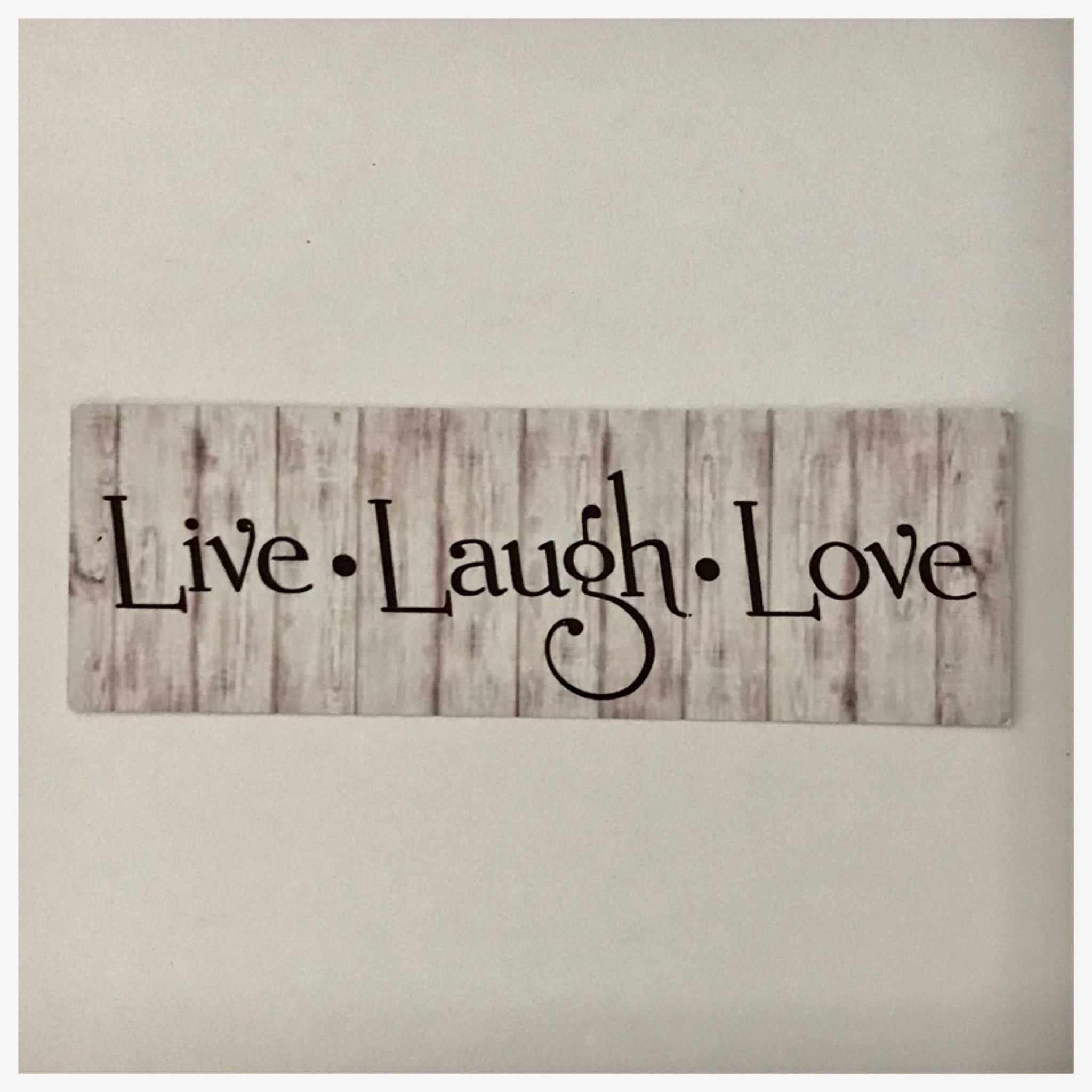 Live Laugh Love Timber Look Sign Wall Plaque or Hanging - The Renmy Store