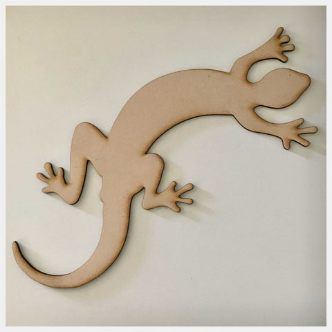 Lizard Geko MDF Timber DIY Raw Craft Other Home Décor The Renmy Store