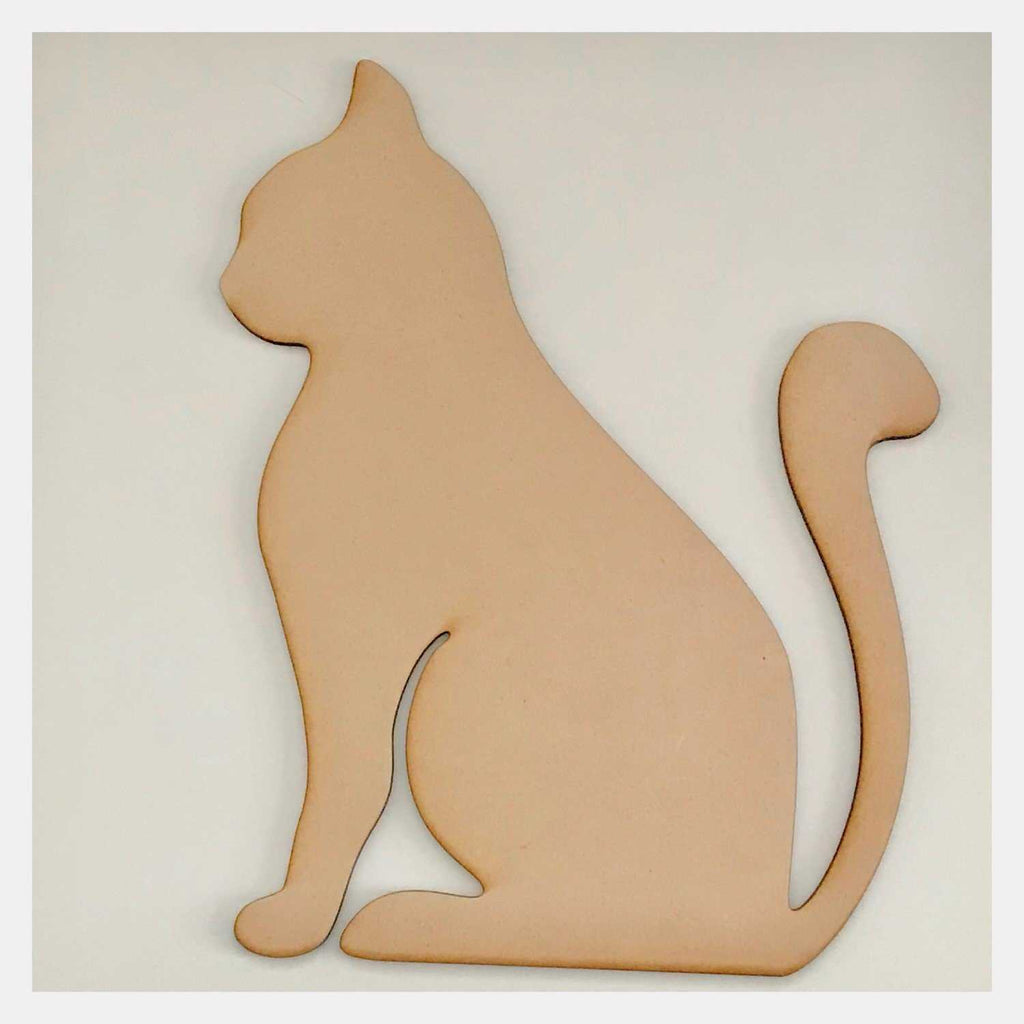 Cat Design 2 DIY Raw MDF Timber - The Renmy Store