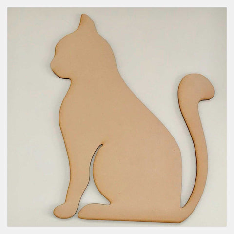Cat Design 2 DIY Raw MDF Timber