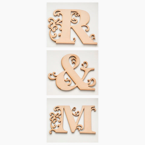 Set of 3 Decorative Letters Alphabet- You Choose - MDF Timber - The Renmy Store