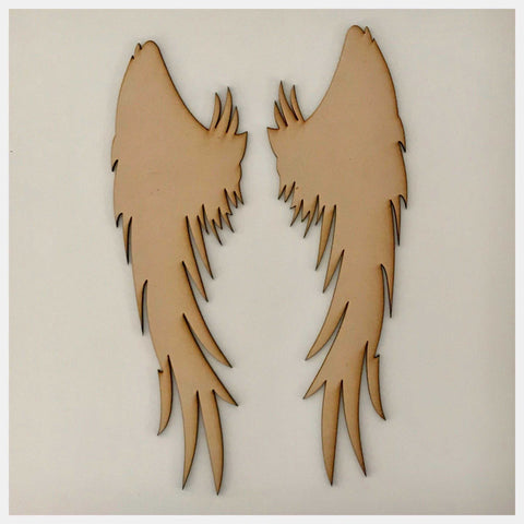 Angel Wings MDF Shape DIY Raw Cut Out Art Craft Decor - The Renmy Store