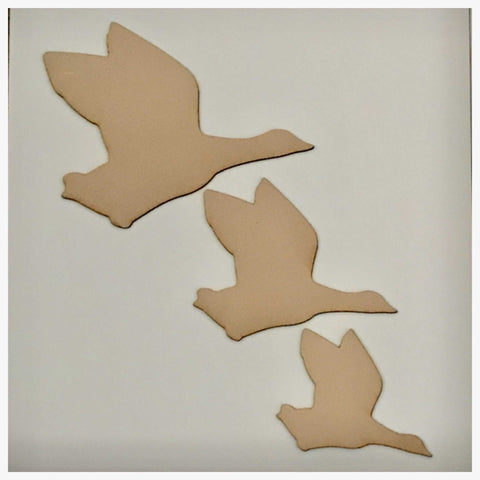 Duck Set of 3 Flying Ducks MDF Shape DIY Raw Cut Out Art Craft Decor - The Renmy Store
